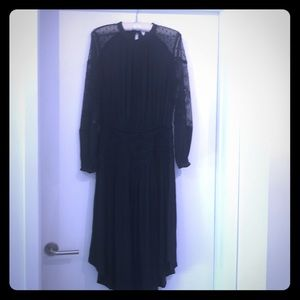 Gorgeous drop waist lace sleeved dress